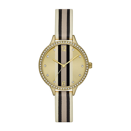 Geneva Womens Crystal Accent Multicolor Strap Watch-Fmdjm213