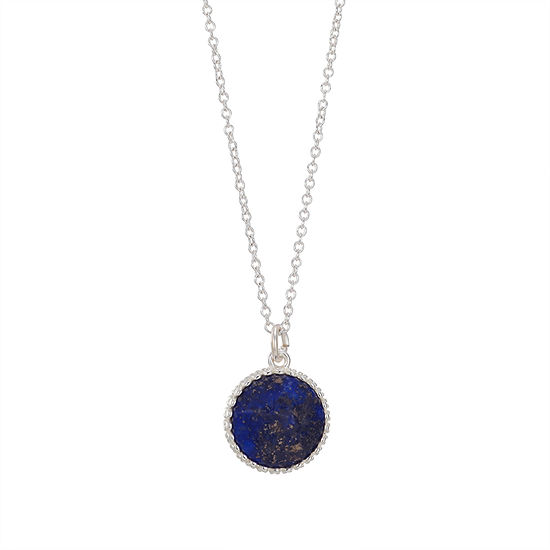 Footnotes Genuine Stone 16 Inch Link Pendant Necklace