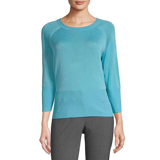 Worthington Womens Raglan Crew Sweater - Tall