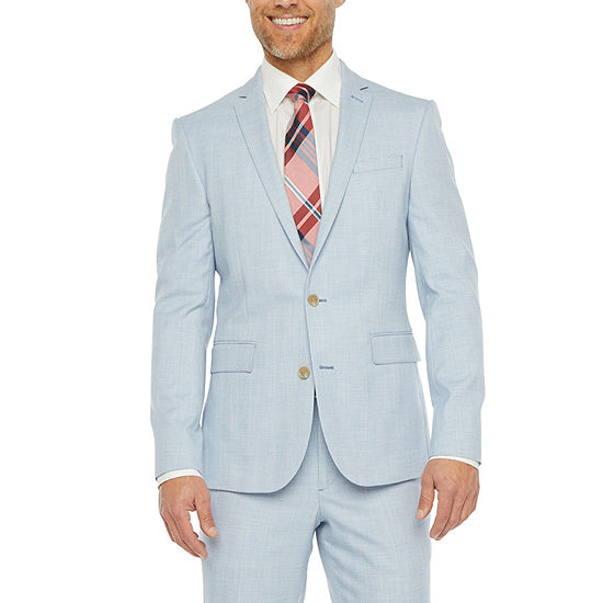 JF J.Ferrar Ultra Mens Plaid Stretch Regular Fit Suit Jacket