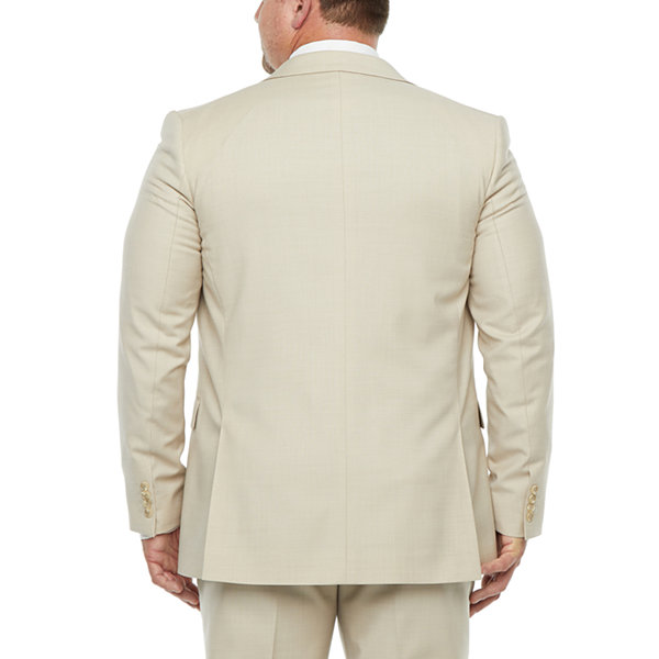 Stafford Super Mens Stretch Classic Fit Suit Jacket-Big and Tall
