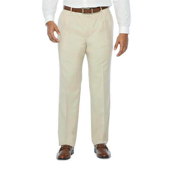Stafford Super Mens Stretch Classic Fit Suit Pants - Big and Tall