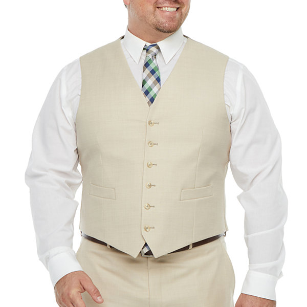 Stafford Super Mens Stretch Classic Fit Suit Vest - Big and Tall