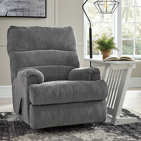 Signature Design by Ashley Man Fort Pad-Arm Recliner