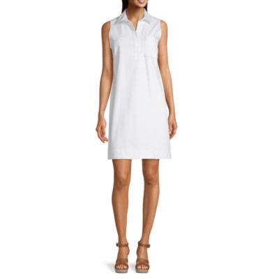Liz Claiborne Simply Sleeveless Shirt Dress