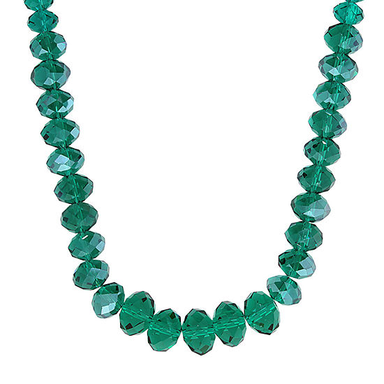 1928 Green 16 Inch Beaded Necklace