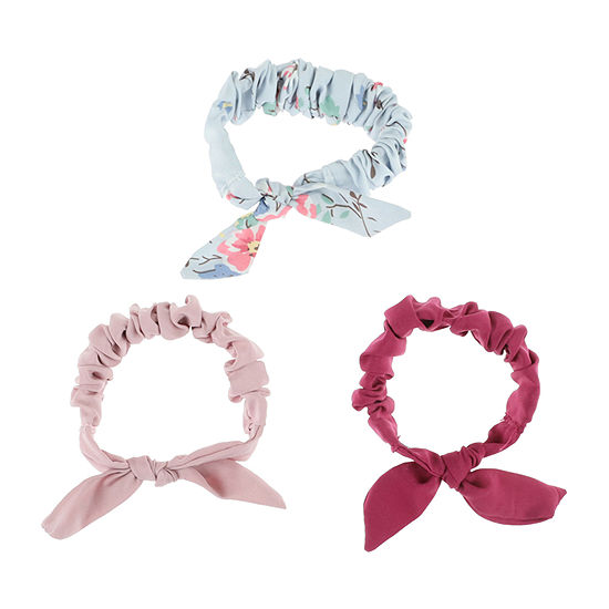 Mixit Scrunchie 3-pc. Pink Hair Ties