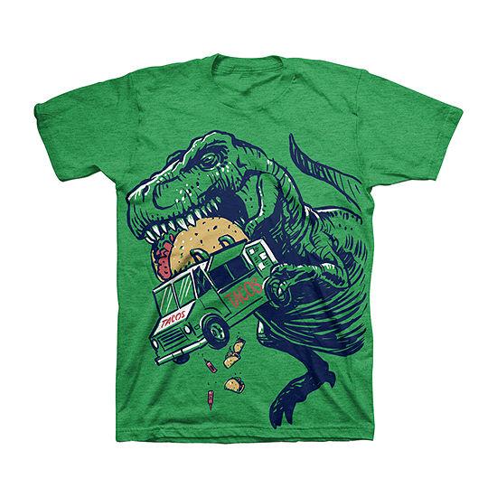 Taco Truck - Little/ Big Kid Boys Crew Neck Short Sleeve Graphic T-Shirt