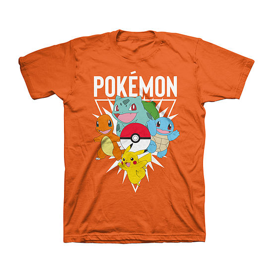 Pokemon Little /Big Kid Boys Crew Neck Short Sleeve Graphic T-Shirt
