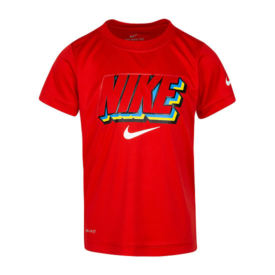 Nike - Little Kid Boys Dri-Fit Round Neck Short Sleeve Graphic T-Shirt