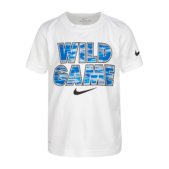 Nike - Little Kid Boys Dri-Fit Crew Neck Short Sleeve Graphic T-Shirt