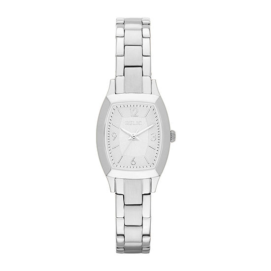 Relic By Fossil Everly Womens Silver Tone Stainless Steel Bracelet Watch-Zr34270