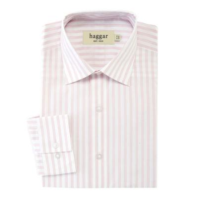 Haggar Stretch Poplin Fitted Dress Shirt