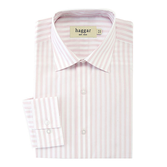 Haggar Stretch Poplin Fitted Dress Shirt
