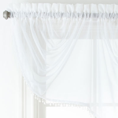 Home Expressions Lisette Sheer Imperial Beaded Valance