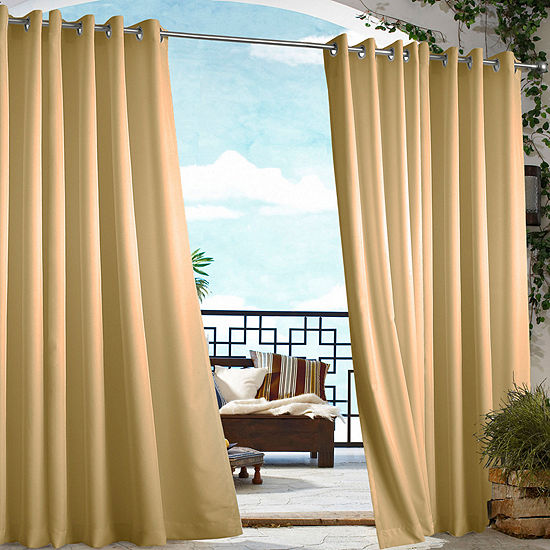 Gazebo Solid Indoor/Outdoor Grommet Top Single Outdoor Curtain Panel