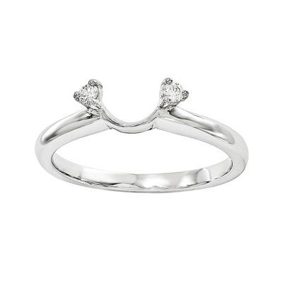 Diamond-Accent 14K White Gold Ring Wrap