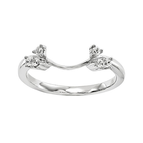Diamond Accent 14K White Gold Ring Enhancer