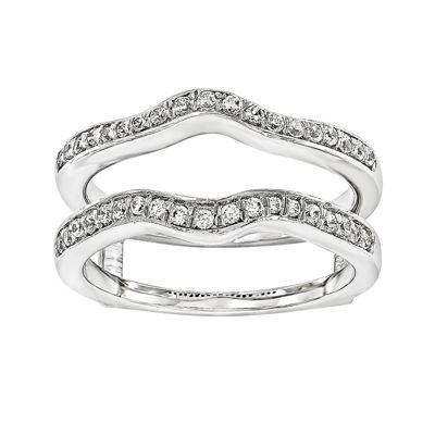 1/3 CT. T.W. 14K White Gold Ring Guard