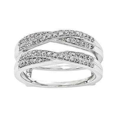 1/3 CT. T.W.  Diamond 14K White Gold Ring Guard