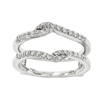 1/4 CT. T.W.  14K White Gold Diamond Ring Guard