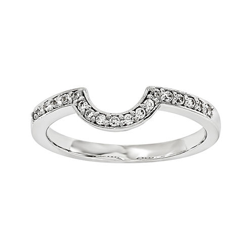 14K White Gold 1/5 CT. T.W. Diamond Ring Enhancer