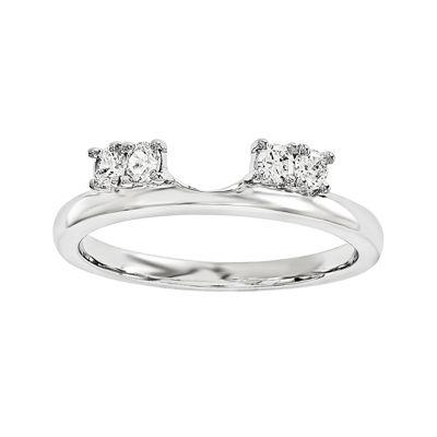 1/6 CT. T.W. Diamond 14K White Gold Ring Enhancer