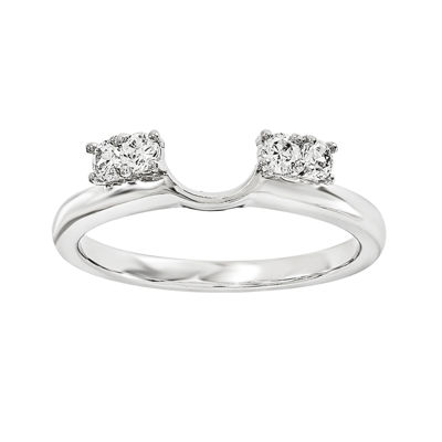 1/7 CT. T.W. Diamond 14K White Gold Ring Enhancer