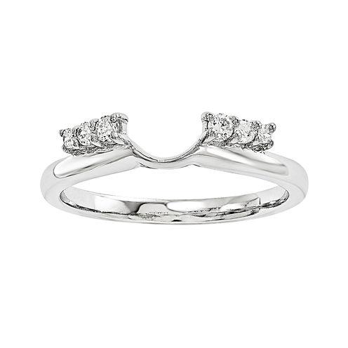 1/7 CT. T.W. Diamond 14K White Gold Ring Enhancer