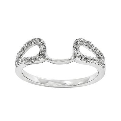 14K White Gold 1/7 CT. T.W. Diamond Ring Enhancer