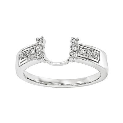 1/8 CT. T.W. Diamond 14K White Gold Ring Enhancer