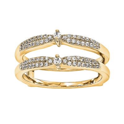 1/5 CT. T.W. Genuine Diamond 14K Yellow Gold Ring Guard