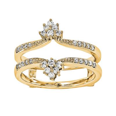 1/5 CT. T.W. Diamond 14K Yellow Gold Ring Guard