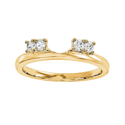 1/6 CT. T.W. Diamond 14K Yellow Gold Ring Enhancer