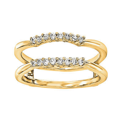1/6 CT. T.W. Diamond 14K Yellow Gold Ring Guard