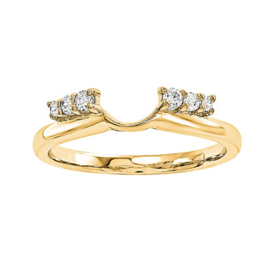 1/7 CT. T.W. Diamond 14K Yellow Gold Ring Enhancer