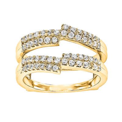5/8 CT. T.W.  Round Diamond 14K Yellow Gold Ring Guard