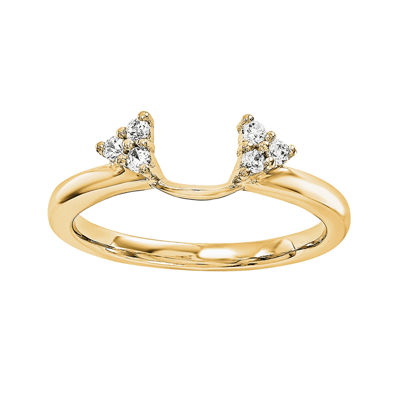 Diamond-Accent 14K Yellow Gold Ring Wrap