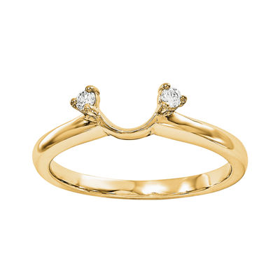 Diamond Accent 14K Yellow Gold Ring Enhancer