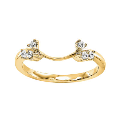 Diamond Accent 14K Yellow Gold Ring Enhancer JCPenney