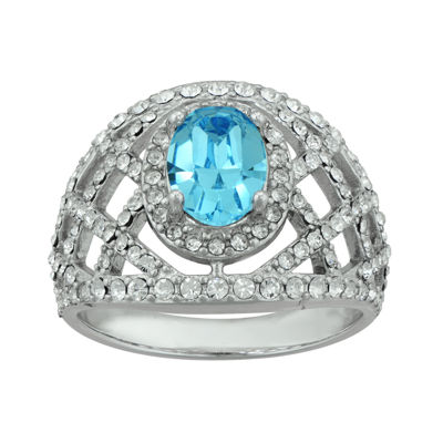 Crystal Sterling Silver Ring