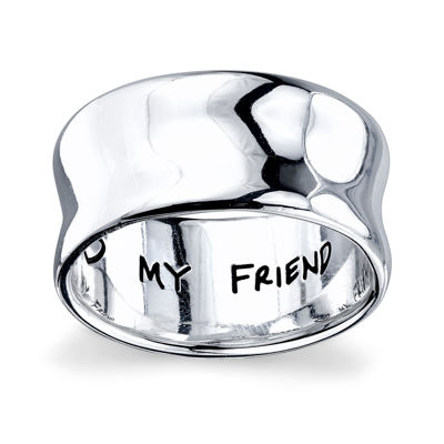 """Inspired Moments™ Sterling Silver """"My Sister, My Friend"""" Ring"""