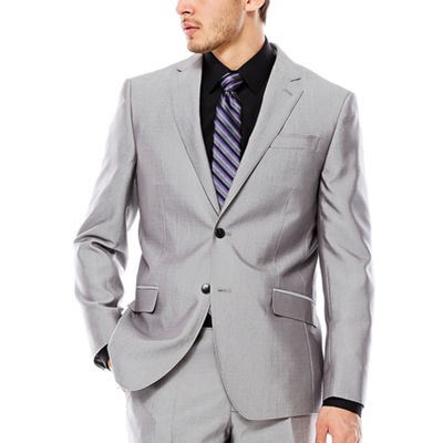 JF J. Ferrar® Gray Shimmer Shark Suit Jacket - Slim Fit