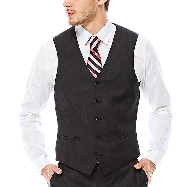 JF J. Ferrar® Nailhead Suit Vest - Slim Fit