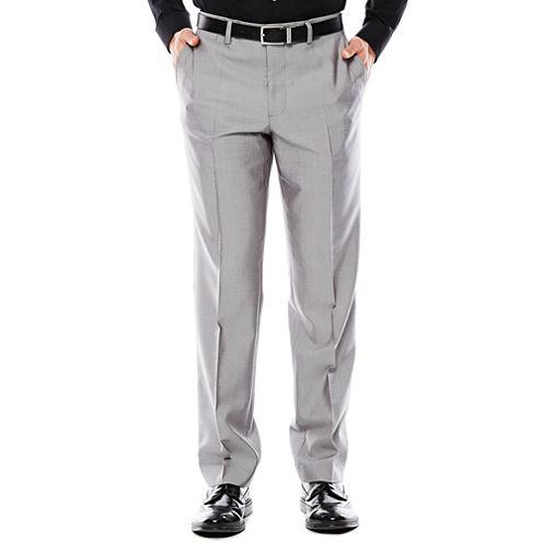 Men's JF J. Ferrar® Gray Shimmer Shark Flat-Front Slim Fit Suit Pants