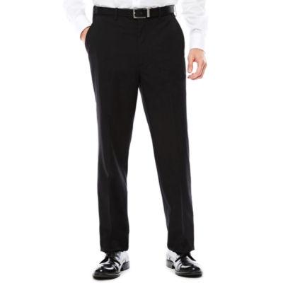 U.S. Polo Assn.® Black Stripe Flat-Front Suit Pants - Classic Fit