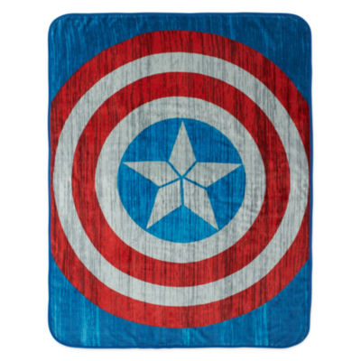 Marvel® Captain America Civil War Sweatshirt Shield Fleece Throw