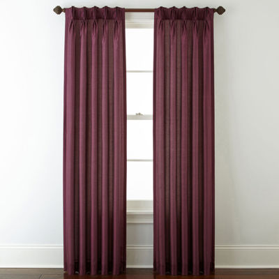 Royal Velvet® Encore Pinch-Pleat/Back-Tab Curtain Panel