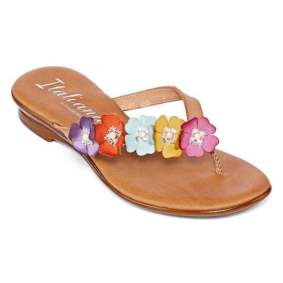 Italiana By Italian Shoemakers Womens Sheila Flip-Flops