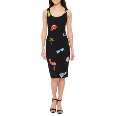 Nicole By Nicole Miller Sleeveless Patchwork Sheath Dress